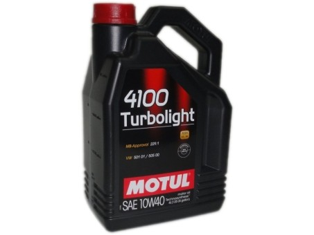 Масло моторное Motul 4100 Turbolight 10W40 (4л)