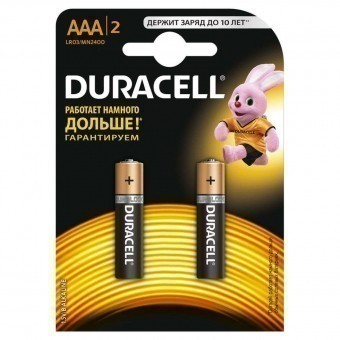 Батарейка ААА (LR03) Duracell Basic (блистер, 2 шт)