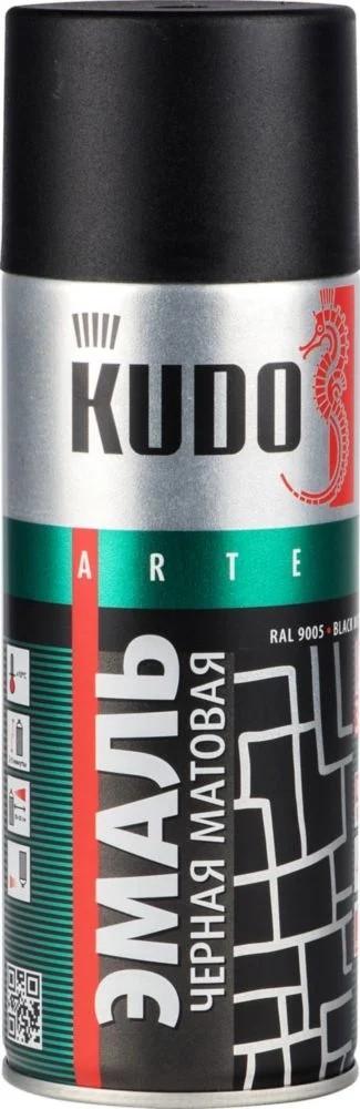 "Краска-спрей ""KUDO"" KU-1102 стандарт Черная матовая (520мл) аэрозоль"