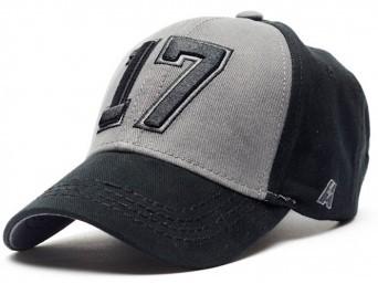 Бейсболка КХЛ №17, черн.-сер., р.55-58, арт.106690