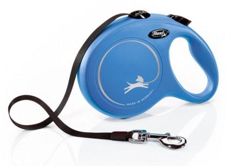 Рулетка Flexi Classic New L, лента, 5 м, синий