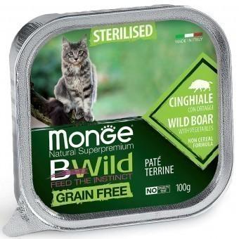 Паштет для кошек Monge BWild Grain Free - Pate terrine Cinghiale, Sterelised (100 г)