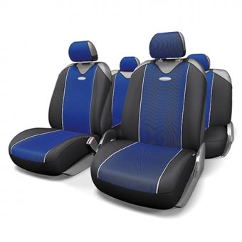 Чехлы-майки Автопрофи Carbon Plus (комплект) - черно-синие