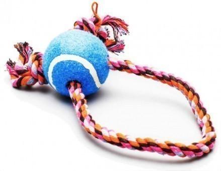 Игрушка Пижон Канат-крест средний с мячом (голубой, 20 см)
