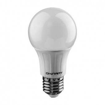 Лампа Онлайт OLL-A60-10-230-4.0K-E27 (820 Лм)