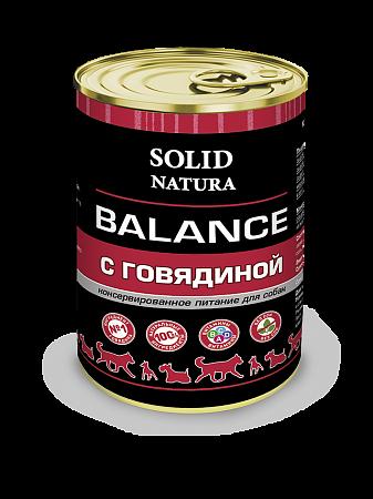 Консервы для собак Solid Natura Balance, говядина (340 г)
