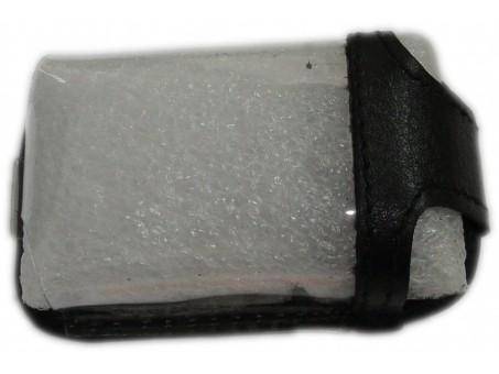 Чехол для смарт-ключа Toyota (Prado/LC200/Highlander, 2-3 кнопки, черная кожа)