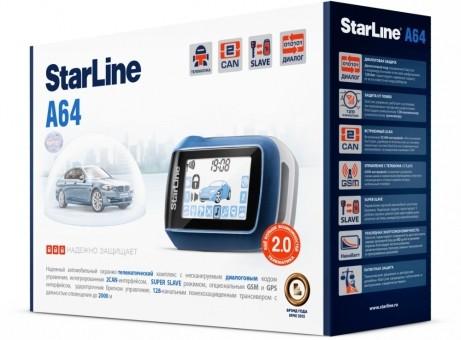 Автосигнализация StarLine A64 Dialog 2CAN (об/с)