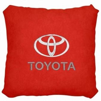 Подушка замшевая Toyota (А90 - красная)
