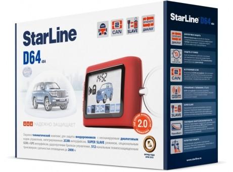 Автосигнализация StarLine D64 Dialog CAN (об/с)