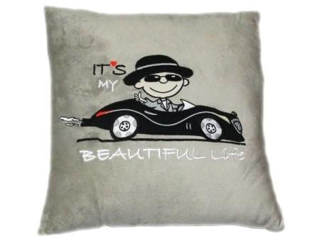 Красивая и комфортная мягконабивная подушка Pit Stop