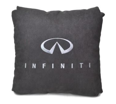 Подушка замшевая Infiniti (А101 - серая)