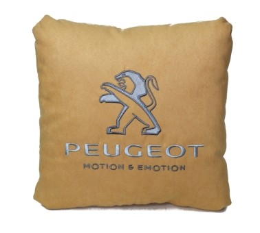 Подушка замшевая Peugeot (А03 - бежевая)