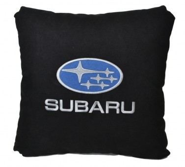 Подушка замшевая Subaru (А18 - черная)