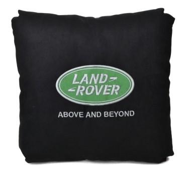 Подушка замшевая Land Rover (А18 - черная)
