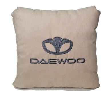 Подушка замшевая Daewoo (А02 - светло-бежевая)