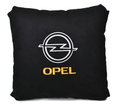 Подушка замшевая Opel (А18 - черная)