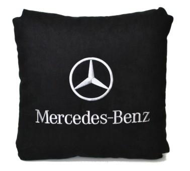 Подушка замшевая Mercedes (А18 - черная)