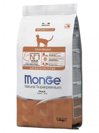Сухой корм для кошек Monge Speciality Line - Sterilised Duck (1,5 кг)