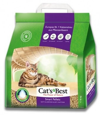 Наполнитель кошачьего туалета Cats Best Smart Pellets (древ., 5 кг, 10 л, без запаха)
