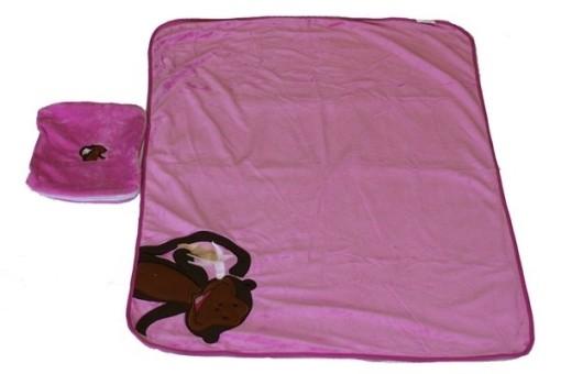 Накидка-одеяло детское PSV Monkey (розовая)