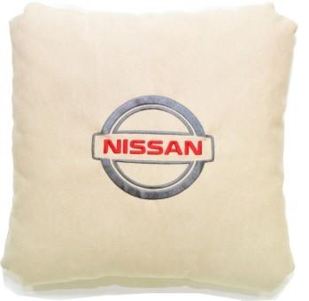 Подушка замшевая Nissan (А02 - светло-бежевая)