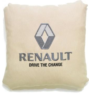 Подушка замшевая Renault (А02 - светло-бежевая)