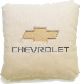 Подушка замшевая Chevrolet (А02 - светло-бежевая)