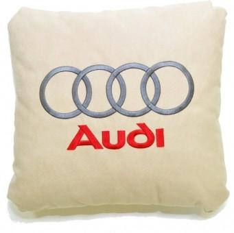 Подушка замшевая Audi (А02 - светло-бежевая)