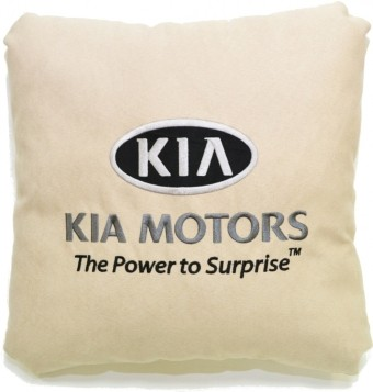 Подушка замшевая Kia (А02 - светло-бежевая)