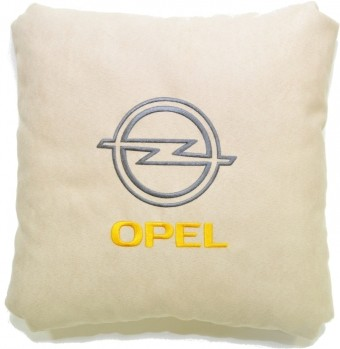 Подушка замшевая Opel (А02 - светло-бежевая)