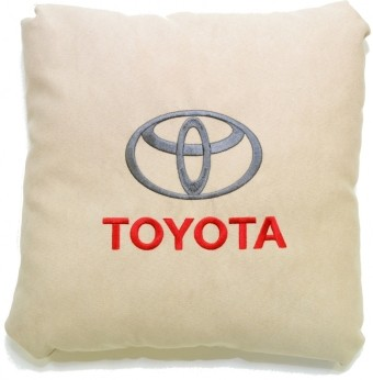 Подушка замшевая Toyota (А02 - светло-бежевая)