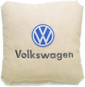 Подушка замшевая Volkswagen (А02 - светло-бежевая)