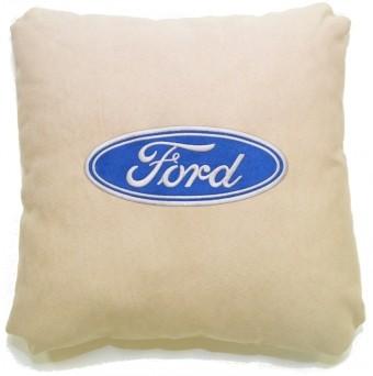Подушка замшевая Ford (А02 - светло-бежевая)