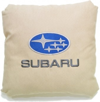 Подушка замшевая Subaru (А02 - светло-бежевая)