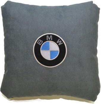Подушка замшевая BMW (А101 - серая)
