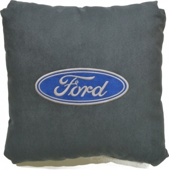 Подушка замшевая Ford (А101 - серая)