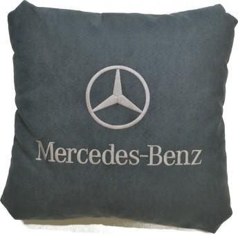 Подушка замшевая Mercedes (А02 - серая)