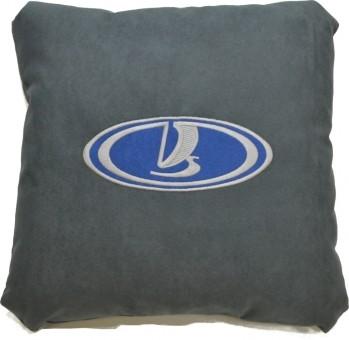 Подушка замшевая Lada (А101 - серая)