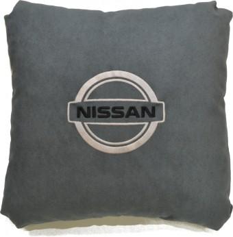 Подушка замшевая Nissan (А101 - серая)