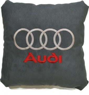 Подушка замшевая Audi (А101 - серая)