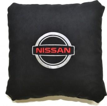 Подушка замшевая Nissan (А18 - черная)