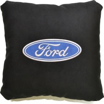 Подушка замшевая Ford (А18 - черная)