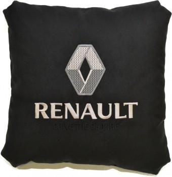 Подушка замшевая Renault (А18 - черная)