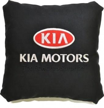 Подушка замшевая Kia (А18 - черная)