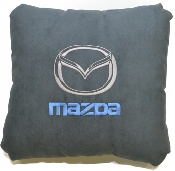 Подушка замшевая Mazda (А101 - серая)