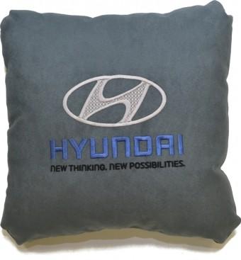Подушка замшевая Hyundai (А101- серая)