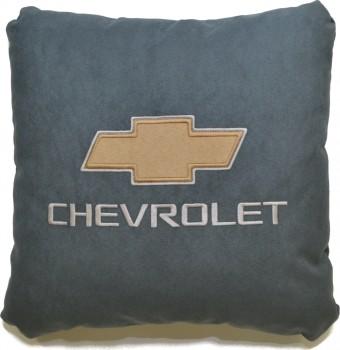 Подушка замшевая Chevrolet (А101 - серая)