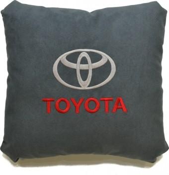 Подушка замшевая Toyota (А101 - серая)