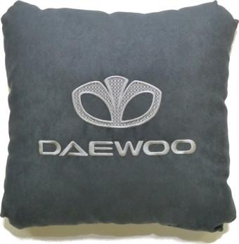 Подушка замшевая Daewoo (А101 - серая)